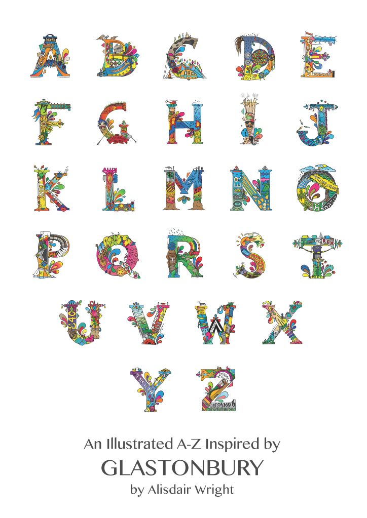Glastonbury Alphabet Poster