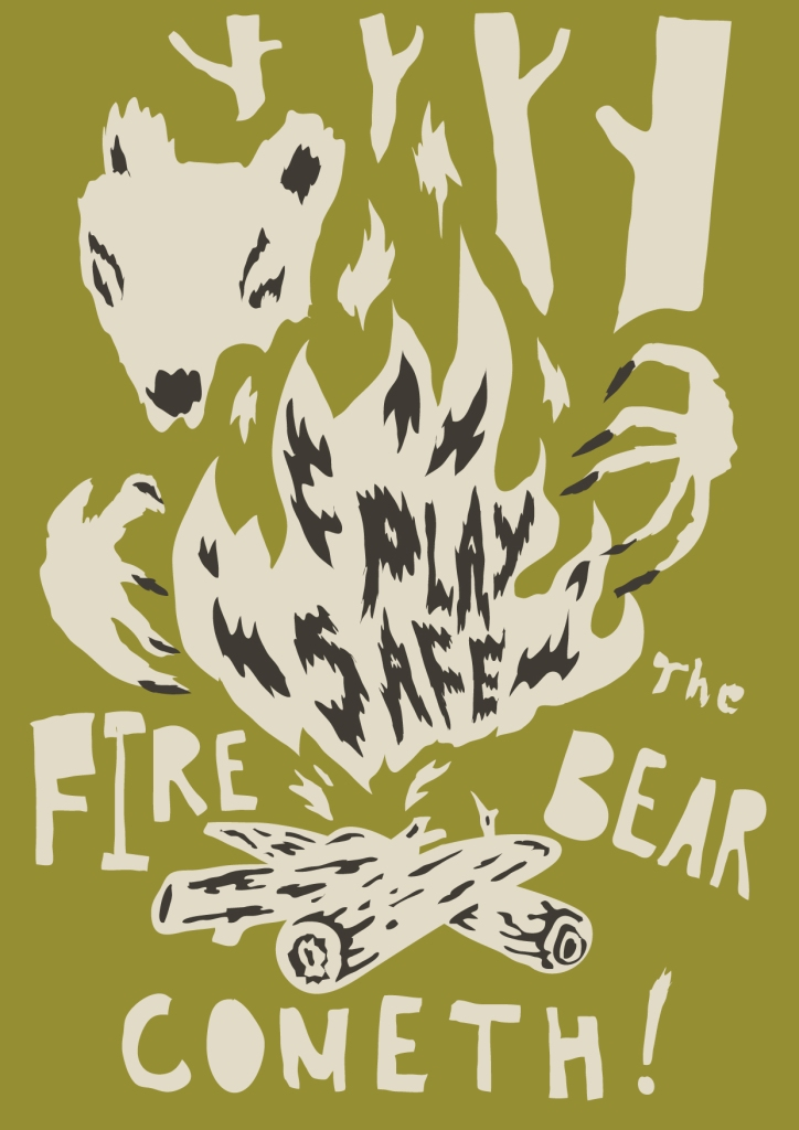 The Fire Bear Cometh Poster