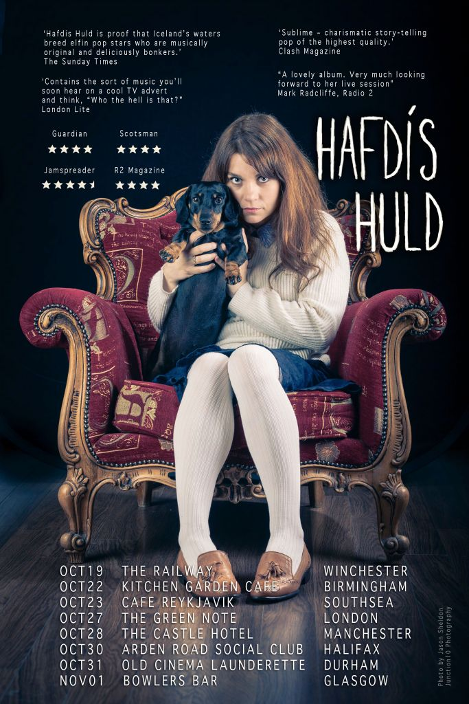 Tour poster for Hafdis Huld. Photo credit: Jason Sheldon @junction10 Photography